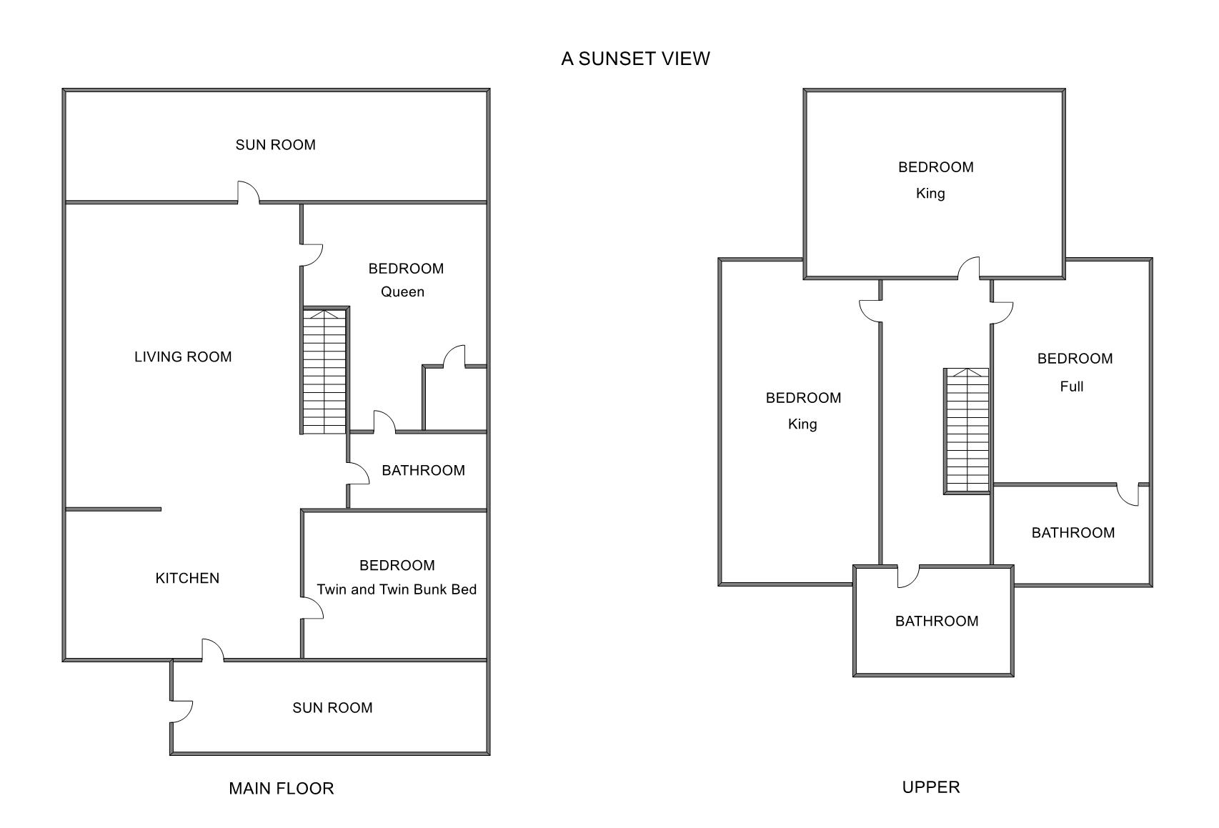Floor Plan for Private Lake Michigan Beach Frontage