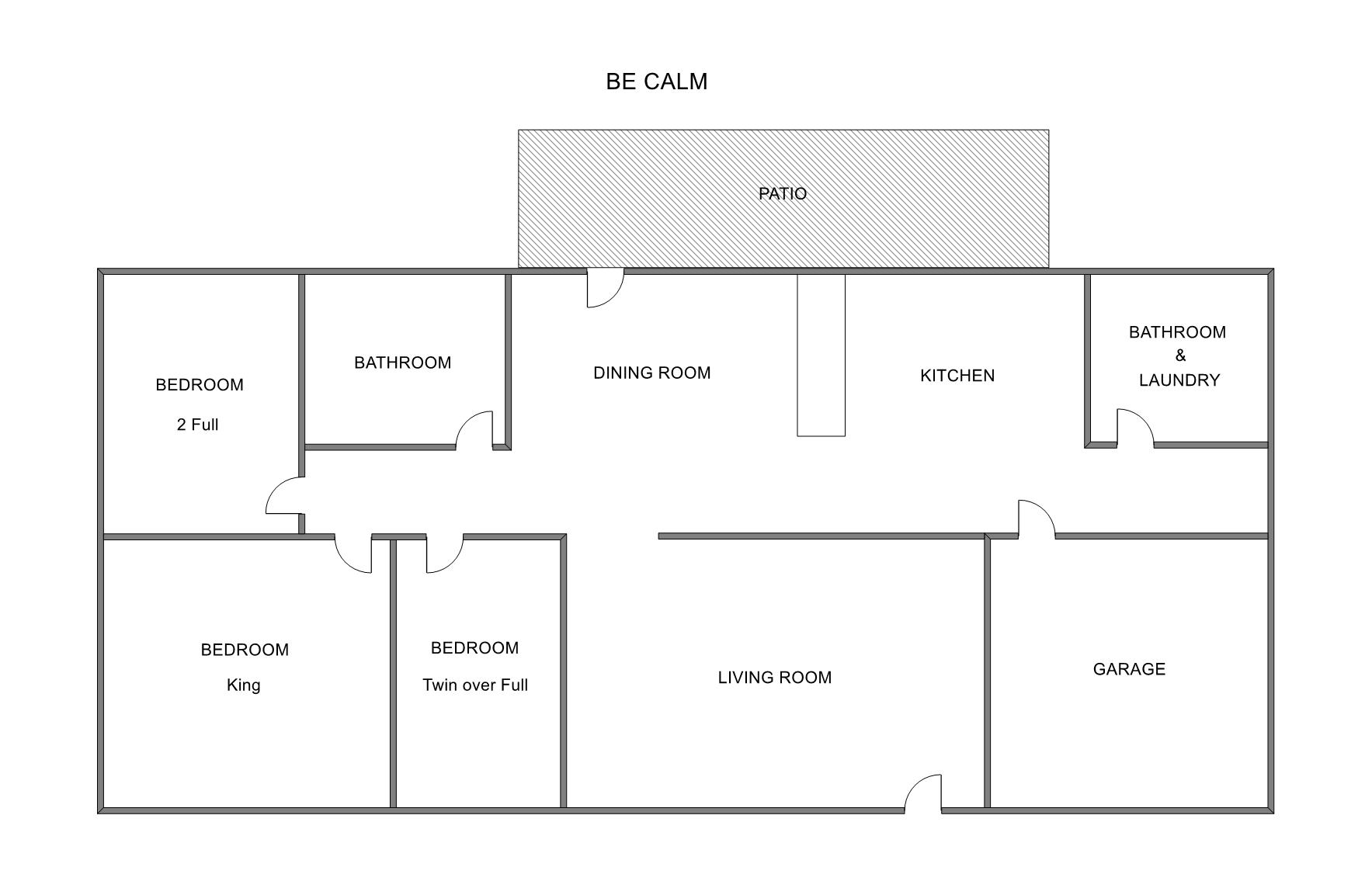 Floor Plan for Holland Vacation Rental within Walking Distance to Tunnel Park