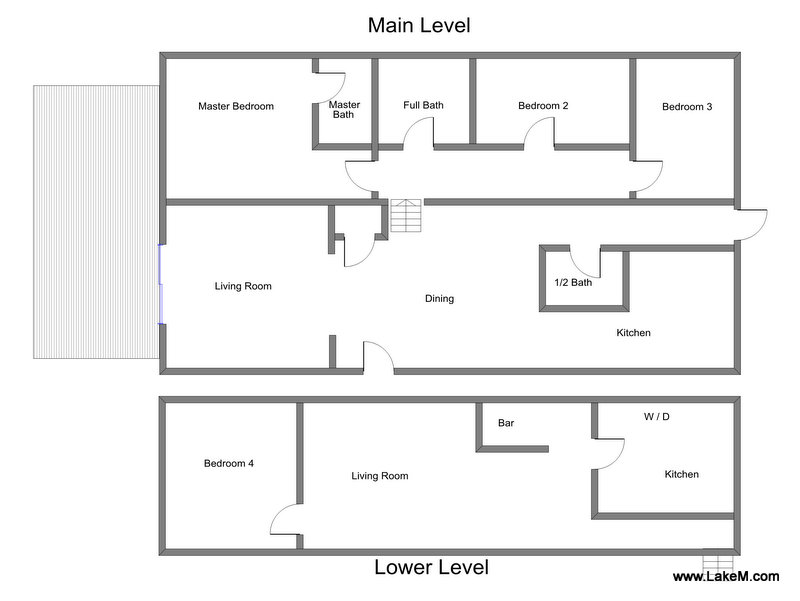 Floor Plan for Large Vacation Rental Close to Lake Michigan Beach Access