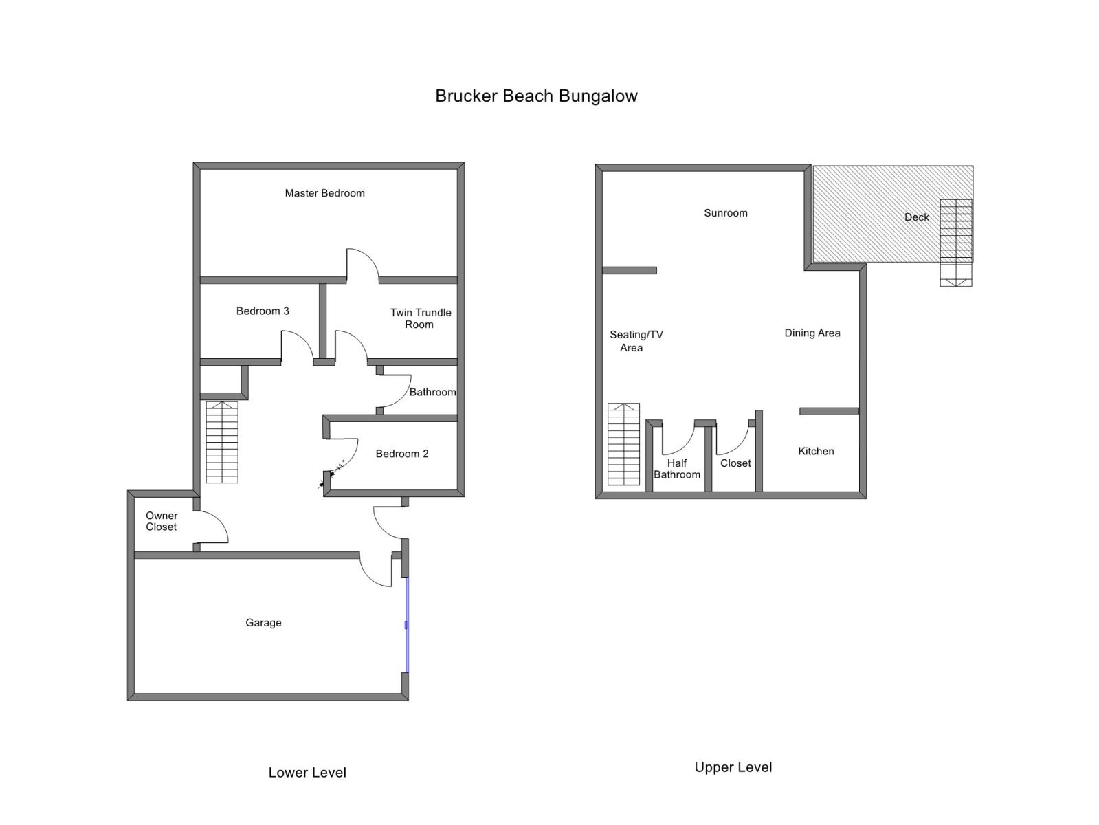 Floor Plan for Grand Haven Vacation Rental within Walking Distance to Lake Michigan