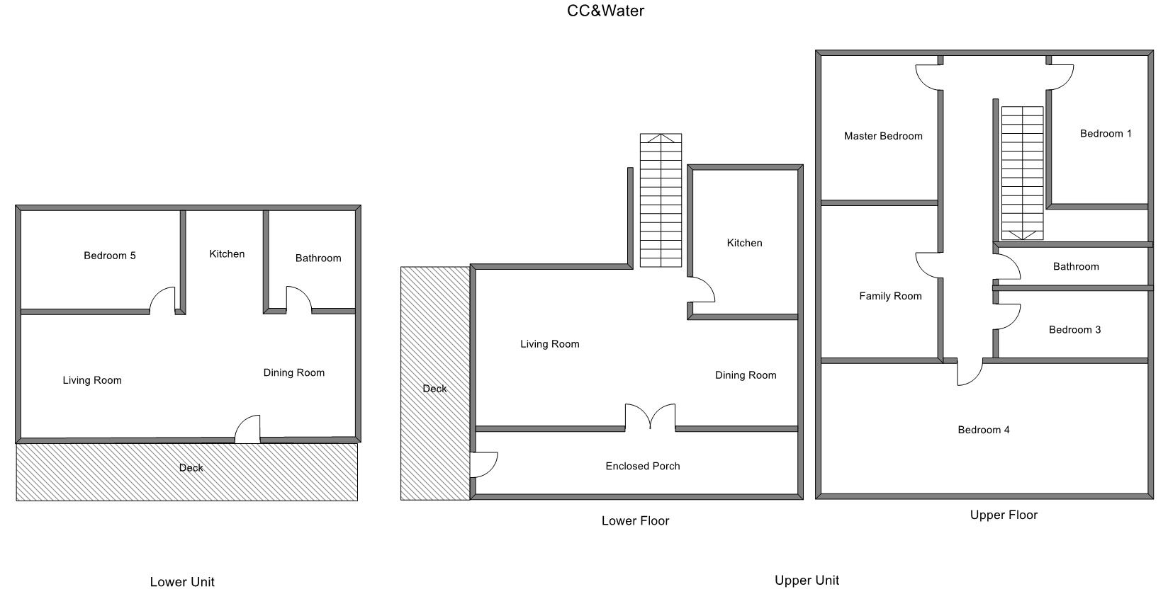 Floor Plan for Downtown Grand Haven Right Across From State Park Beach