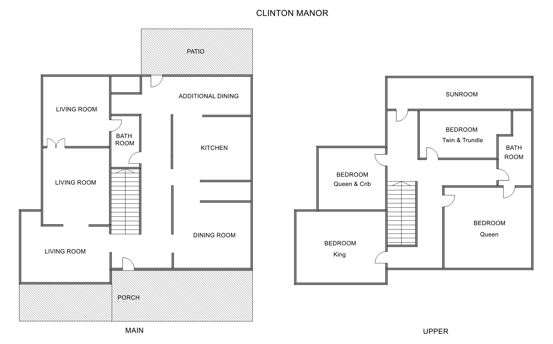 Floor Plan for Grand Haven vacation rental located right downtown