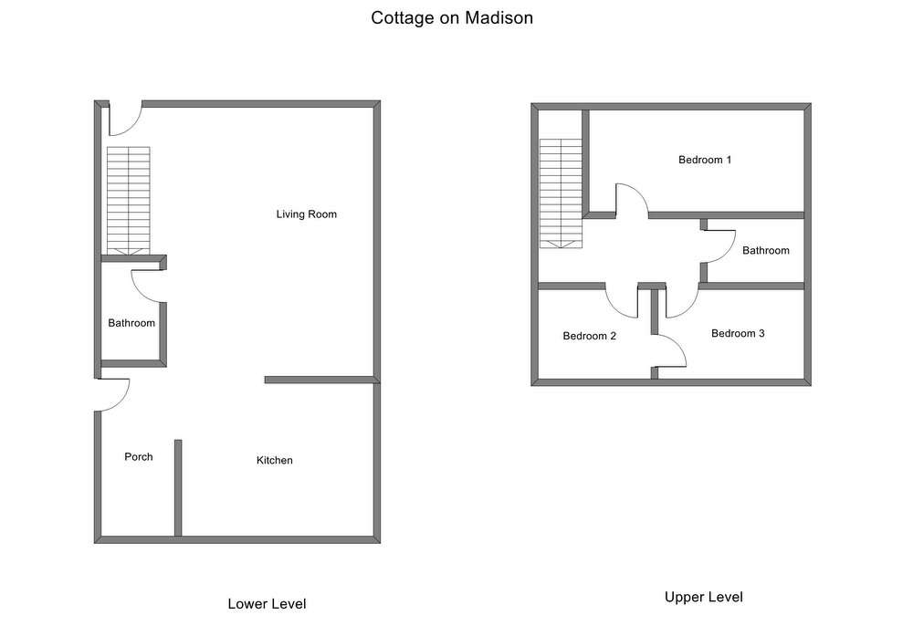 Floor Plan for Downtown Grand Haven Vacation Rental