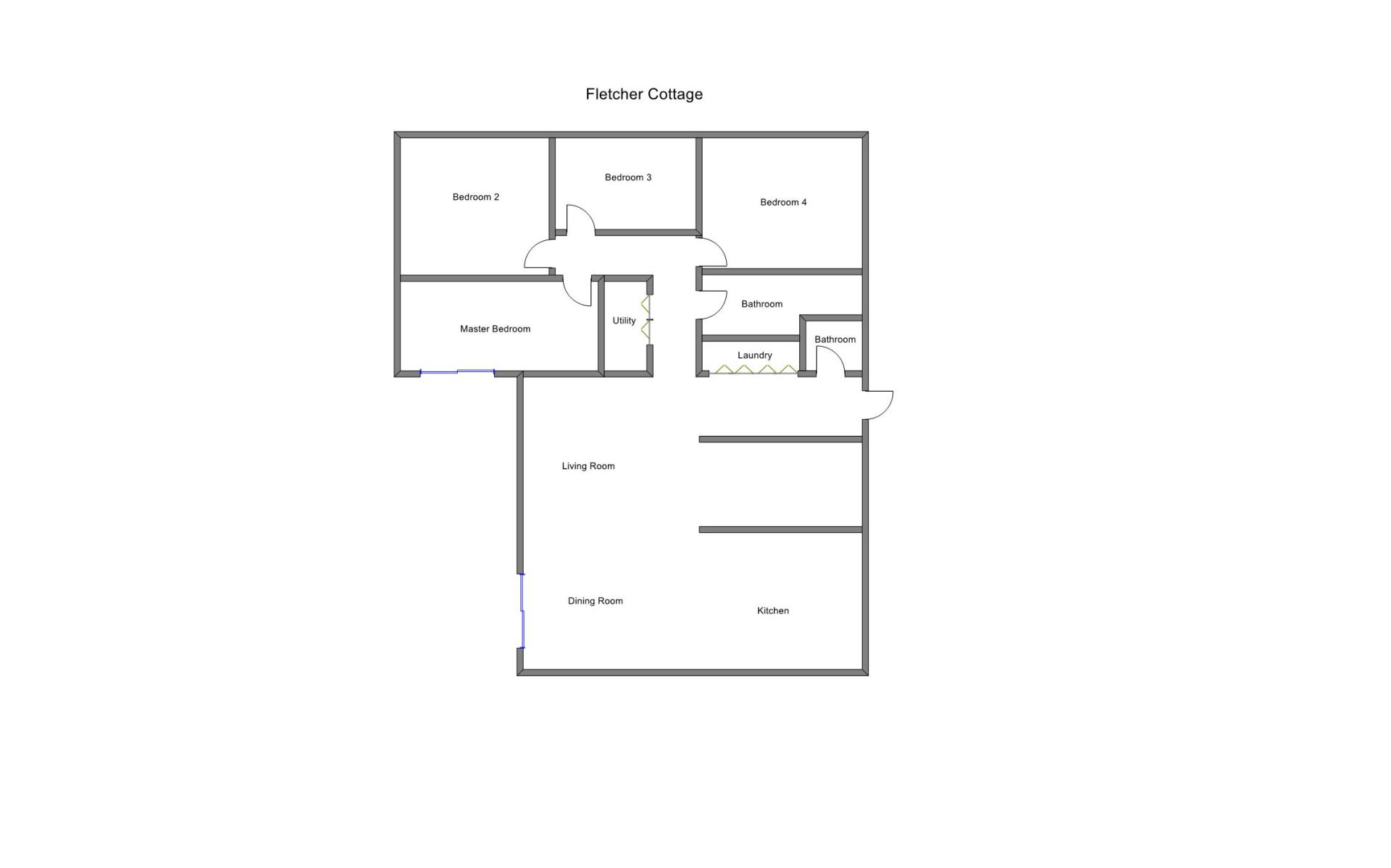Floor Plan for Private Lake Michigan Frontage