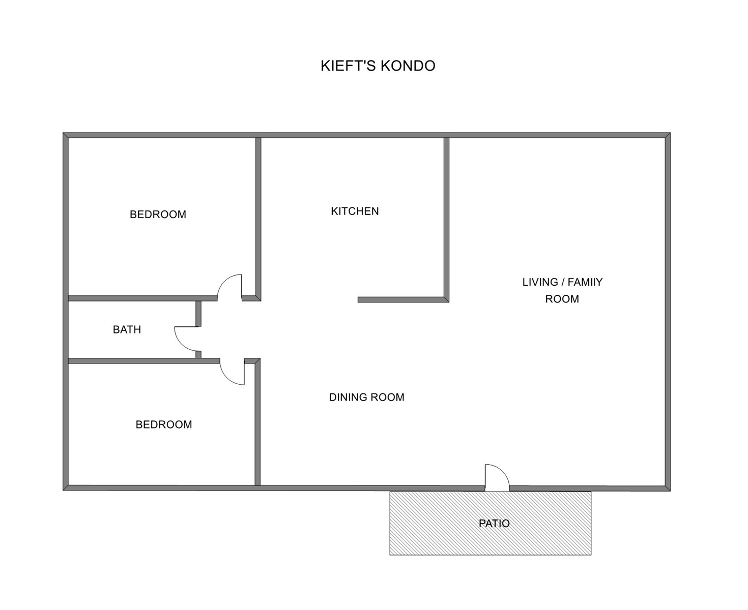 Floor Plan for Grand Haven Vacation Rental Close to Restaurants