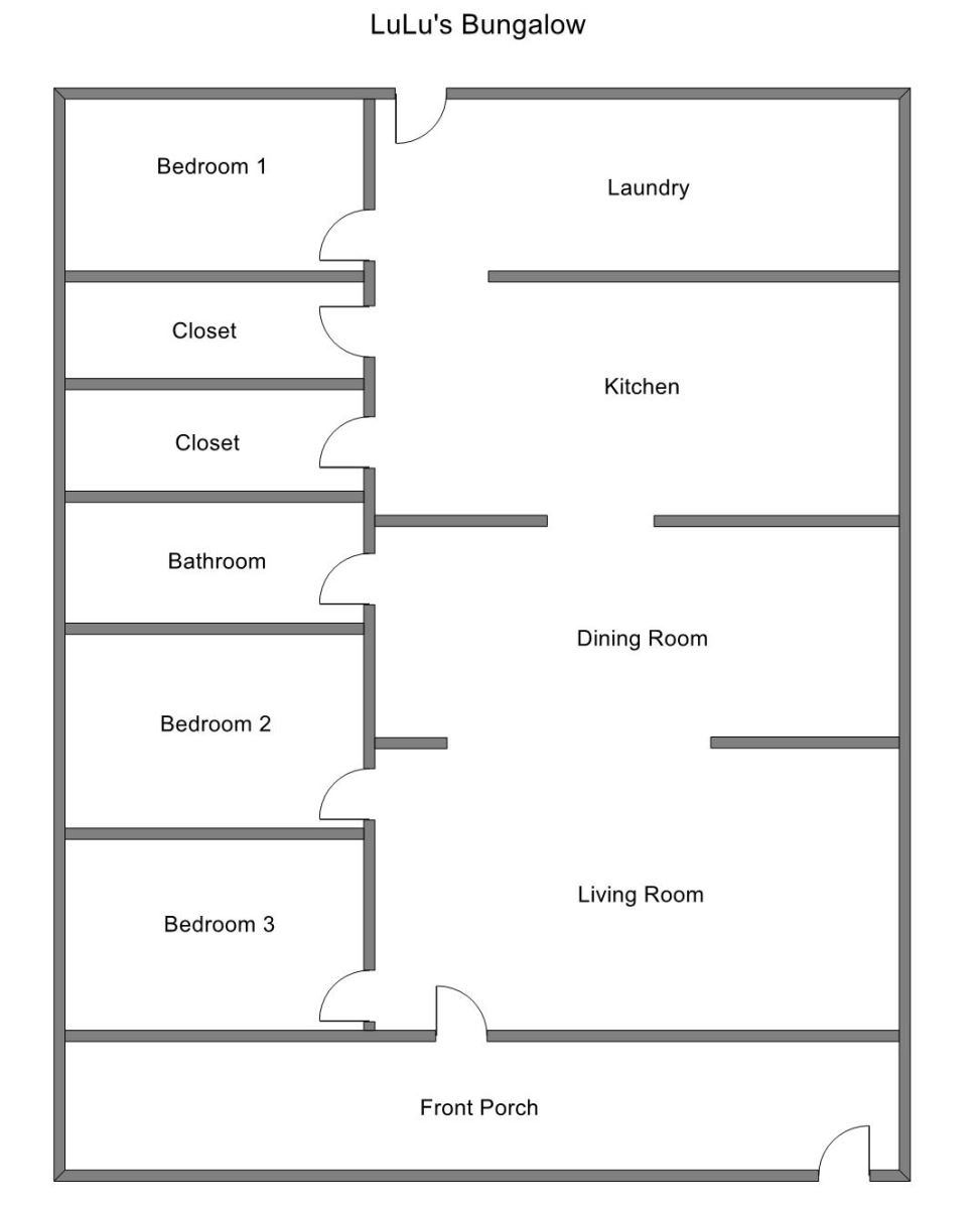 Floor Plan for Great Family Home Close to Pier Marquette Beach