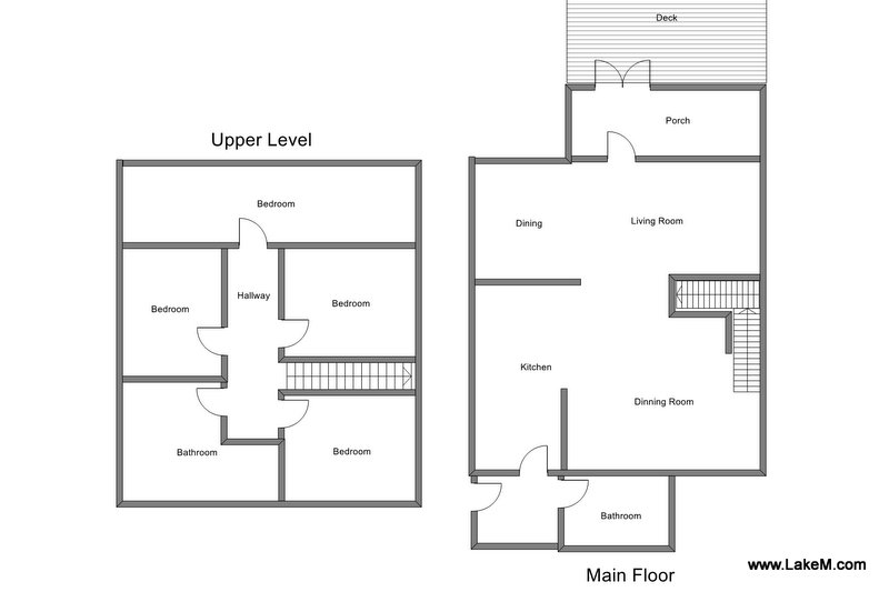 Floor Plan for Beautiful Cottage steps from the Grand Haven Beach