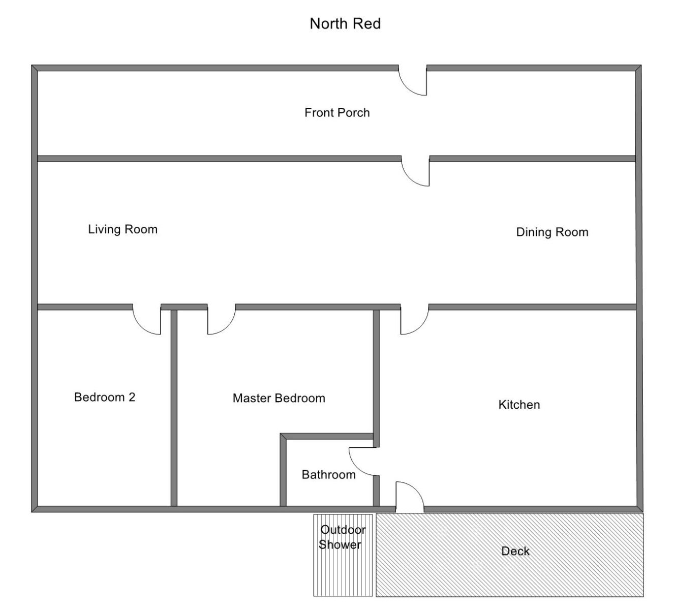 Floor Plan for Holland Vacation Rental with Private Shared Lake Michigan Access