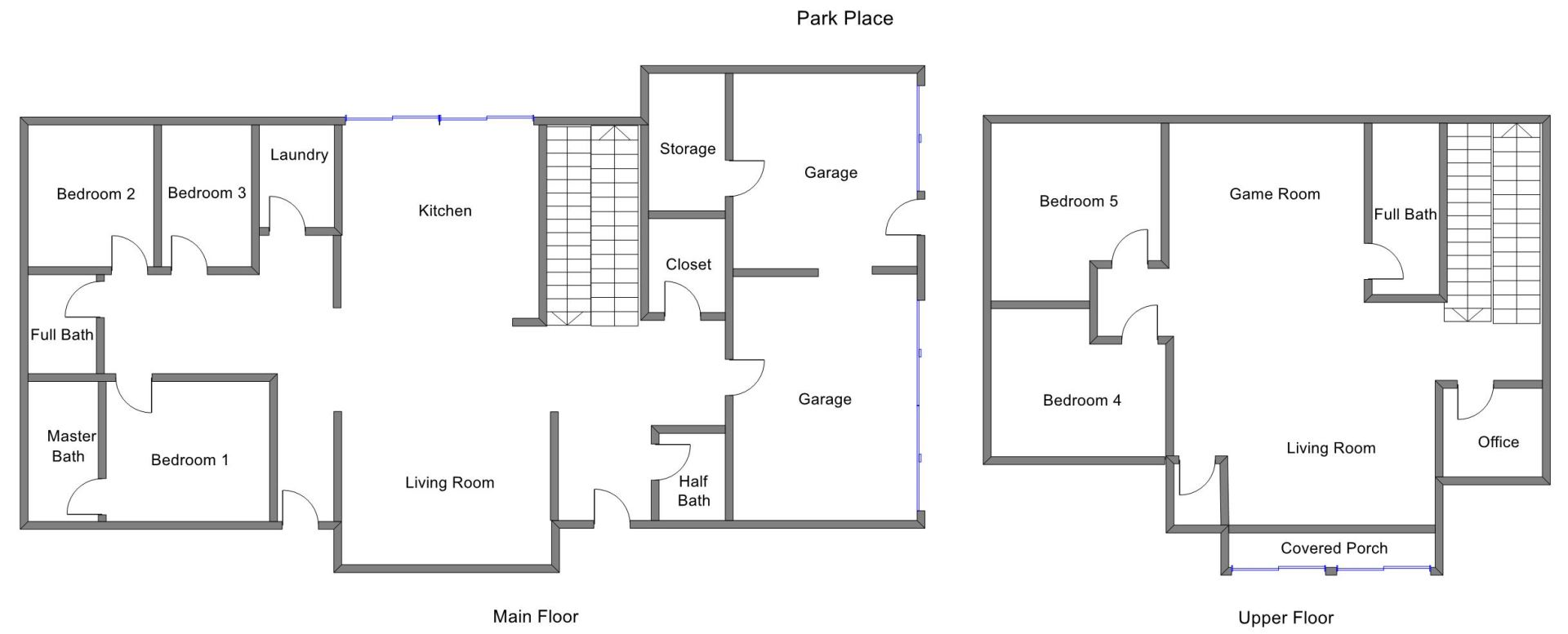 Floor Plan for Muskegon Vacation Rental close to Pere Marquette