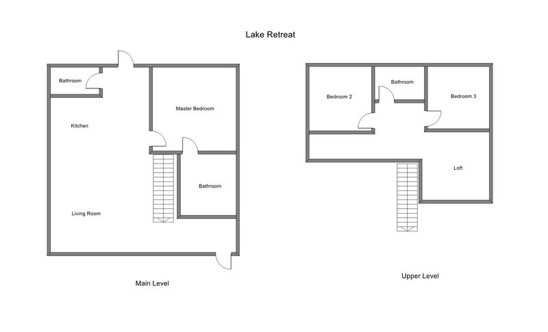 Floor Plan for Great Spring Lake Vacation Rental within Walking Distance to Beach!