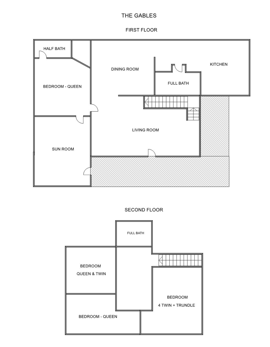 Floor Plan for Holland Vacation Rental Within Walking Distance to State Park Beaches!