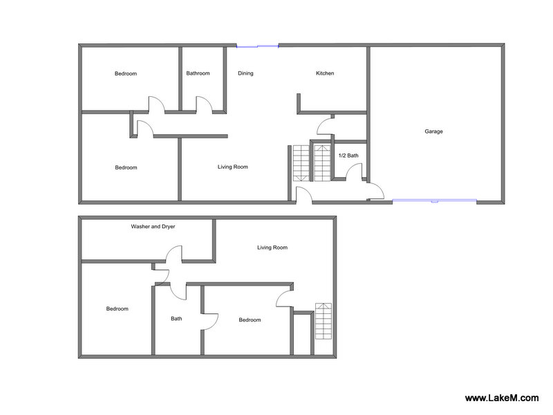 Floor Plan for Holland Vacation Rental Close to Tunnel and Holland State Park Beaches!